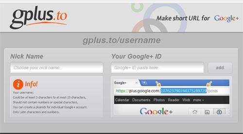 vanity url google plus